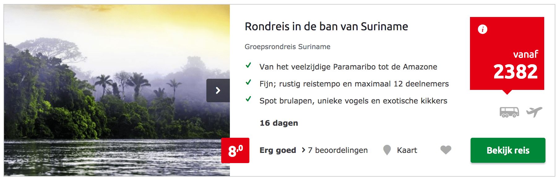 Rondreis Suriname- In de ban van Suriname