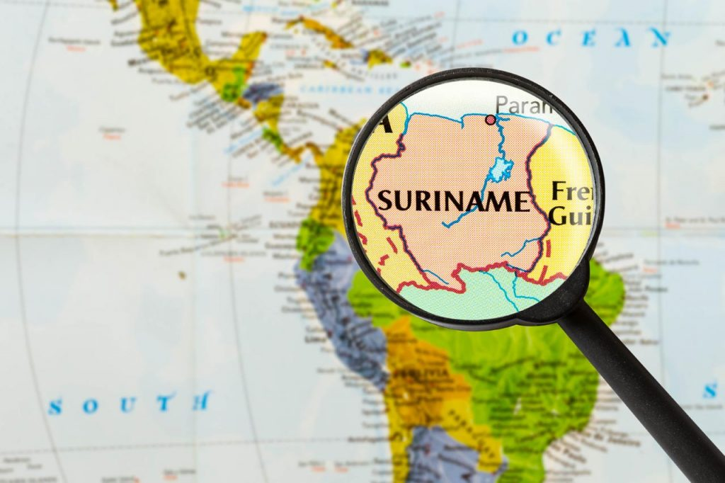 Kaart van Suriname